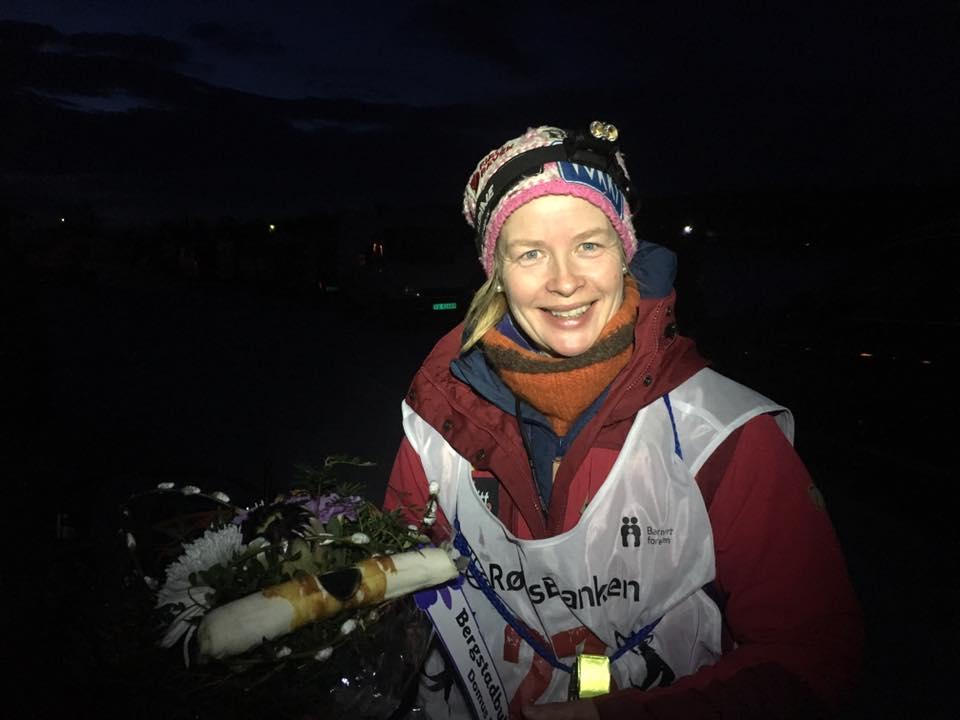 Birgitte Næss over mål som Norgesmester i langdistanse åpen klasse 2017. Foto. Team Birgitte Næss