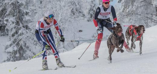 Carina Nilsen og Karine Helene Bryde Solberg under NM 2017. Foto: Ina Blomstedt