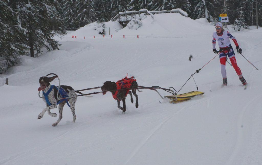 Oda Foss Almqvist fra Hadeland TK tok NM gull i flerspann junior. Foto: Lotte Friid Fladeby